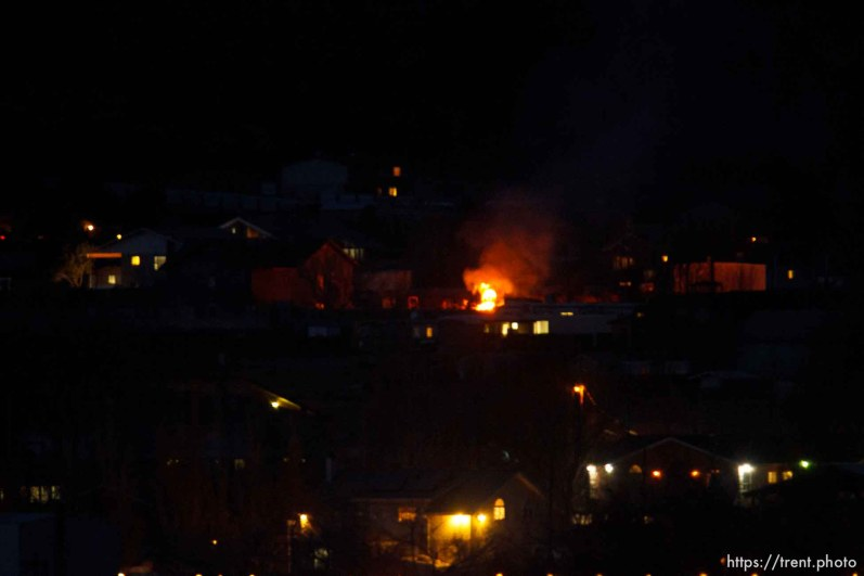 fires burning in town at night, Thursday November 29, 2012.
