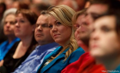 Trent Nelson | The Salt Lake Tribune Elissa Wall attends a community meeting regarding the United Effort Plan (UEP) trust Friday November 30, 2012 in Colorado City.