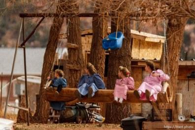 girls on swing, Friday November 30, 2012.