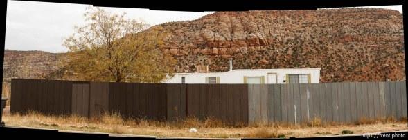 trailer home with zion over door, Friday November 30, 2012.