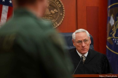 Trent Nelson | The Salt Lake Tribune Judge Paul Maughan sentences Curtis Allgier to multiple prison terms Wednesday December 5, 2012 in Salt Lake City.