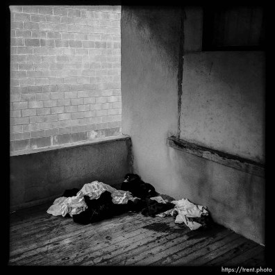 old clothes at abandoned house. south state project.