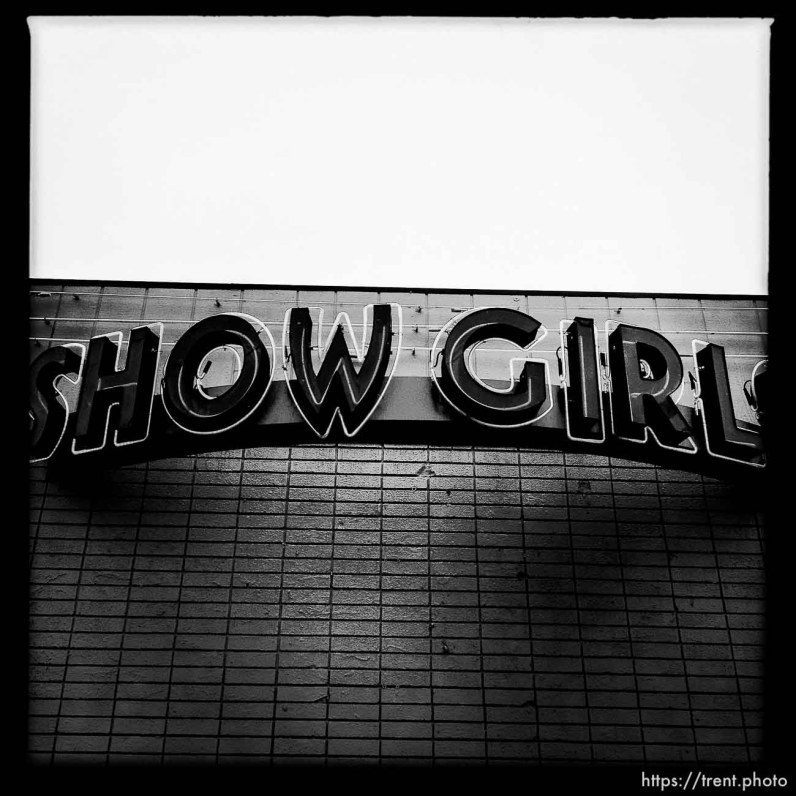showgirls sign. south state project.