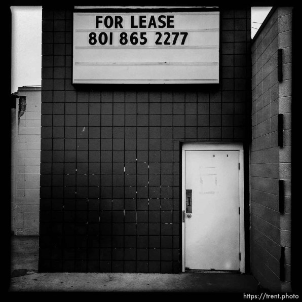 for lease sign at bar. south state project.