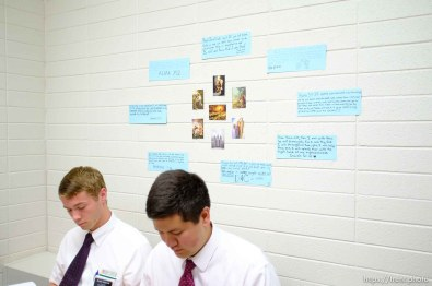 Trent Nelson | The Salt Lake Tribune Missionaries Brigham Shipley and Benjamin Black in a Thai language class at the Missionary Training Center of the Church of Jesus Christ of Latter-day Saints in Provo Tuesday June 18, 2013.