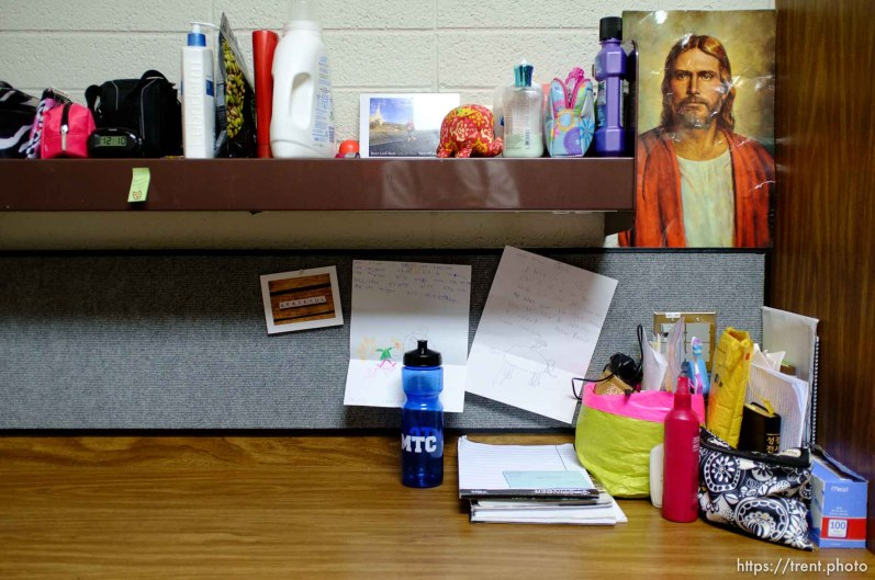 Trent Nelson   The Salt Lake Tribune A desk in a women's dorm room at the Missionary Training Center of the Church of Jesus Christ of Latter-day Saints in Provo Tuesday June 18, 2013.