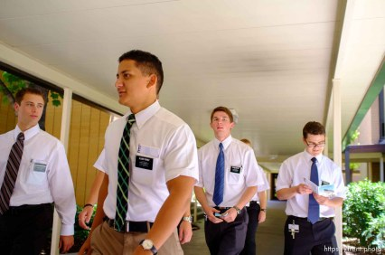Trent Nelson   The Salt Lake Tribune Missionaries at the Missionary Training Center of the Church of Jesus Christ of Latter-day Saints in Provo Tuesday June 18, 2013.
