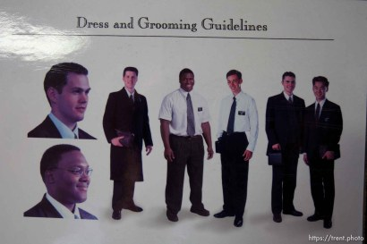 Trent Nelson   The Salt Lake Tribune Dress and grooming guidelines for missionaries at the Missionary Training Center of the Church of Jesus Christ of Latter-day Saints in Provo Tuesday June 18, 2013.