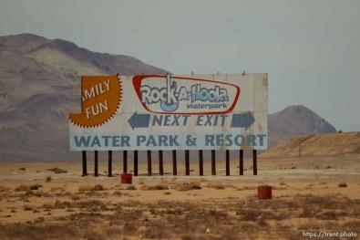 driving through desert. rock-a-hoola water park Sunday June 23, 2013.