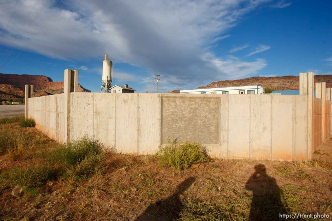 Trent Nelson | The Salt Lake Tribune wall. in Colorado City Tuesday, October 8, 2013.
