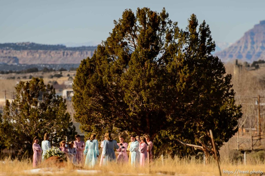 Trent Nelson | The Salt Lake Tribune A group of people gathered in the city cemetery in Colorado City Sunday December 15, 2013.