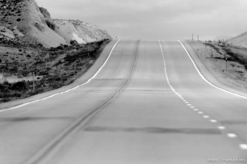 road. driving from green river to price, Monday May 25, 2015.