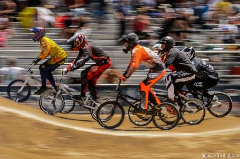 Trent Nelson | The Salt Lake Tribune Riders at the U.S. BMX National Series at Rad Canyon BMX in South Jordan, Saturday June 13, 2015.