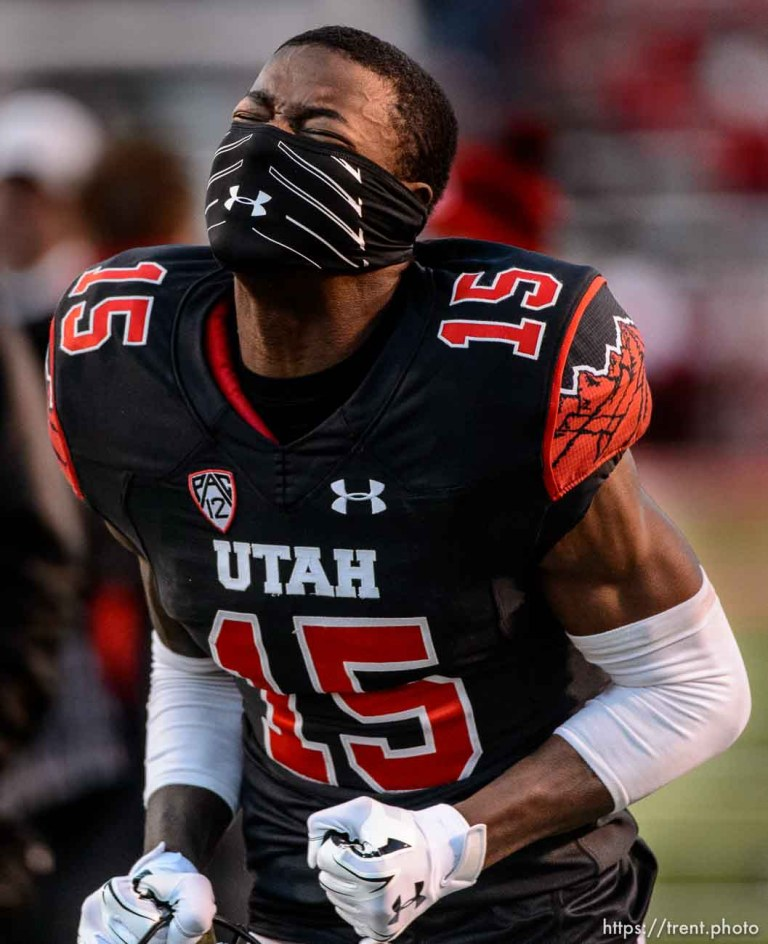 Trent Nelson | The Salt Lake Tribune Utah Utes defensive back Dominique Hatfield (15) reacts to the loss as the University of Utah falls to UCLA 17-9, NCAA football at Rice-Eccles Stadium in Salt Lake City, Saturday November 21, 2015.