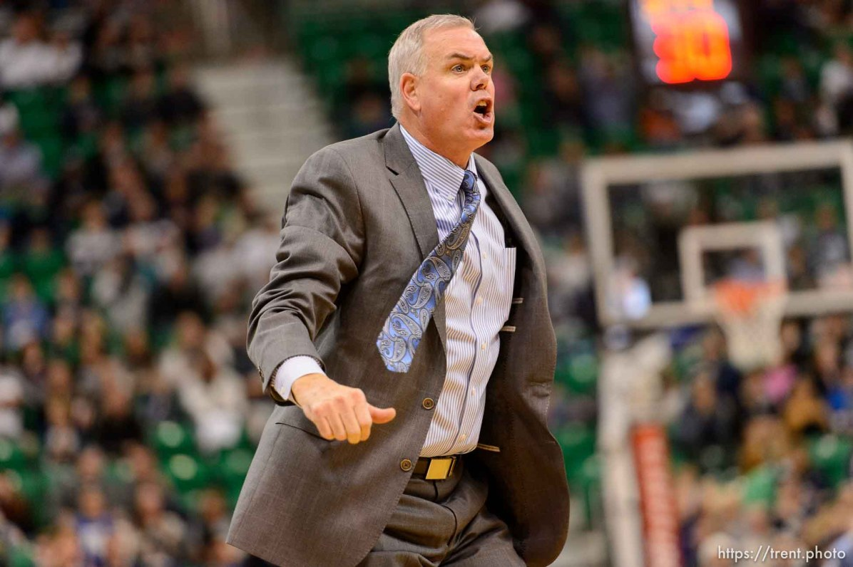 Trent Nelson | The Salt Lake Tribune BYU basketball coach Dave Rose, as BYU faces Weber State, NCAA basketball at Vivant Smart Home Arena in Salt Lake City, Saturday December 5, 2015.