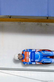 Trent Nelson | The Salt Lake Tribune Roman Repilov (Russia) competes in the Viessmann Luge World Cup at the Utah Olympic Park, Saturday December 12, 2015.