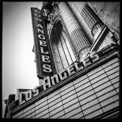 los angeles theater. downtown Los Angeles, Monday January 2, 2017