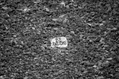 be awesome, written on rock above bountiful, Monday April 17, 2017.