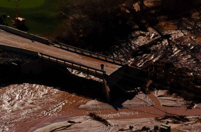Flood damaged areas.