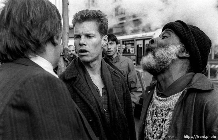 Argument at Gulf War protest