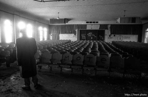 Alex Van Valin in the old Academy Building.