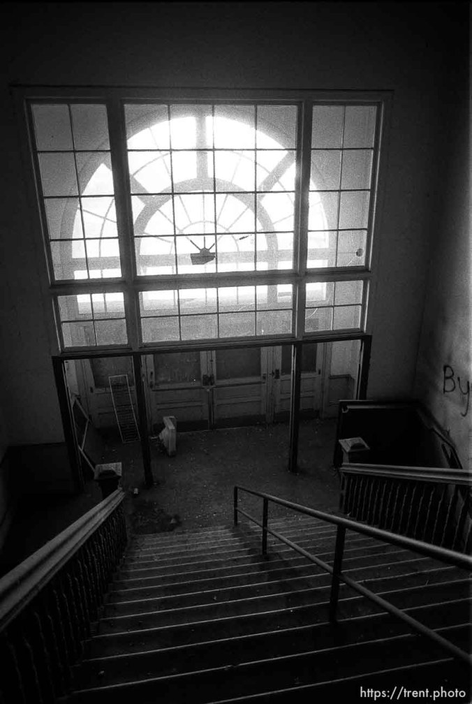 Stairway and window in the old Academy Building.