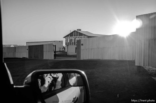 wall and entrance to apparent new FLDS storehouse, hildale, Wednesday January 14, 2015.