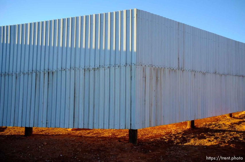 wall around apparent new FLDS storehouse, hildale, Wednesday January 14, 2015.