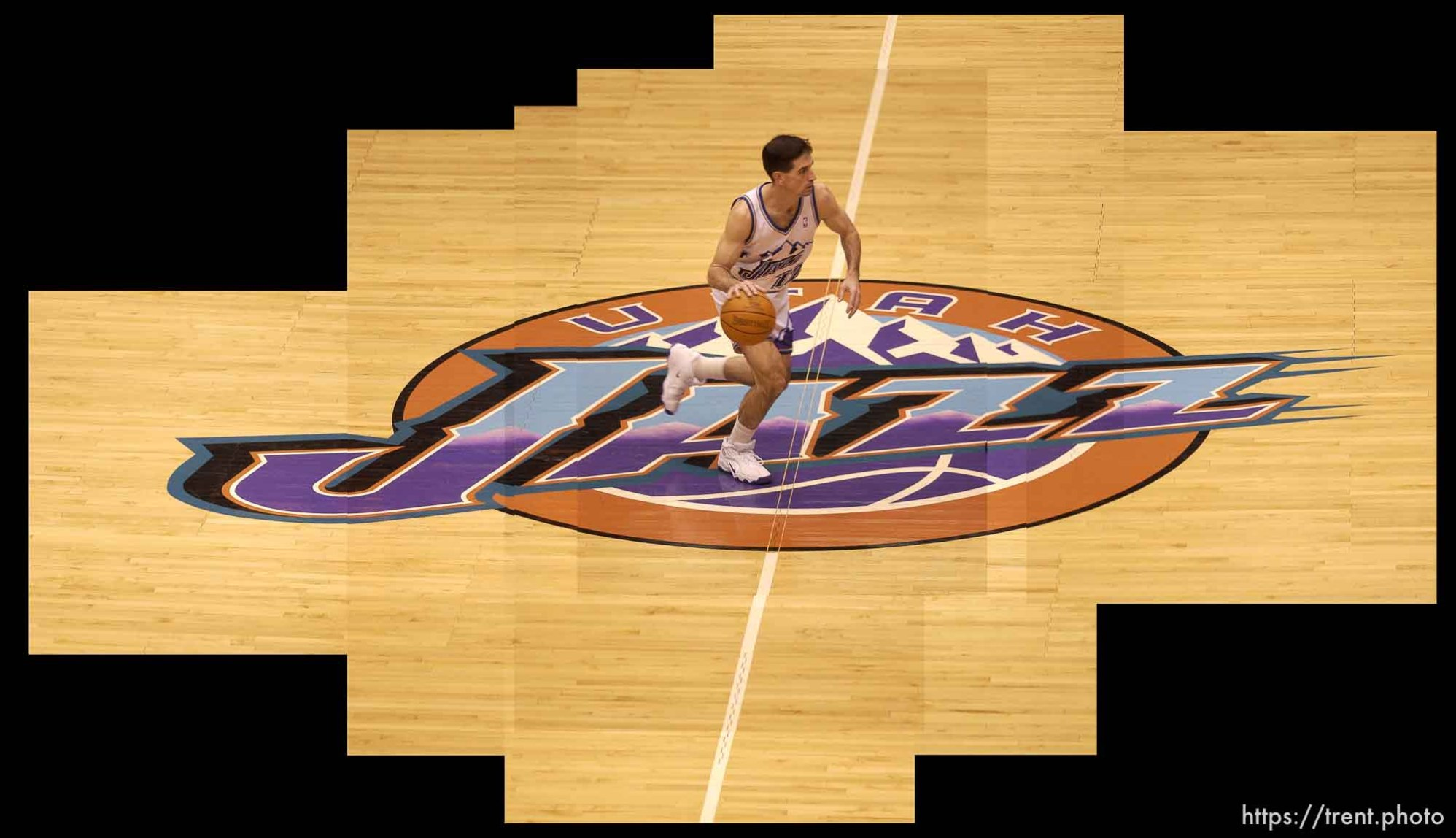 John Stockton Jazz logo. 01/18/2003