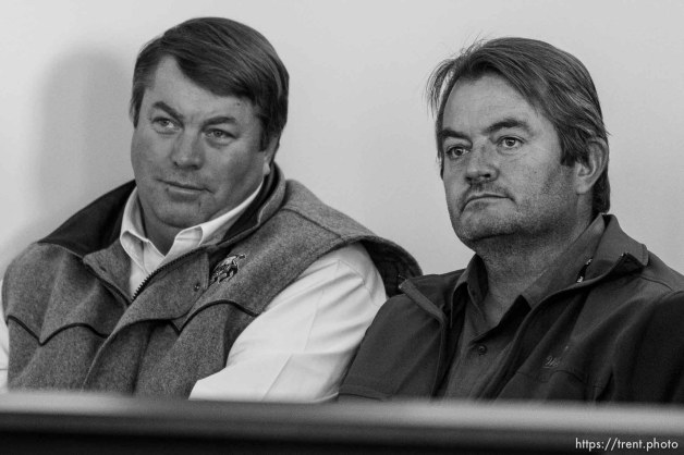 Trent Nelson | The Salt Lake Tribune Willie Jessop and Lee Steed at a court hearing concerning Utah's management of the United Effort Plan Friday, February 15, 2013 in Salt Lake City.