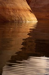 Reflections. Low water level at Lake Powell.; 02.19.2003, 9:52:52 AM