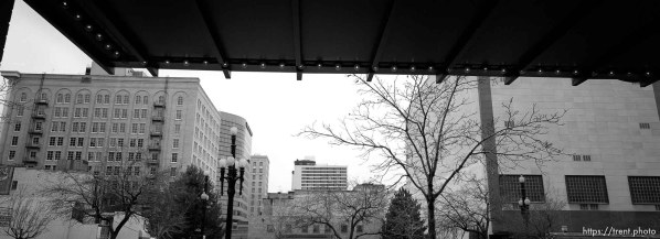 Buildings downtown from Crossroads south entrance.