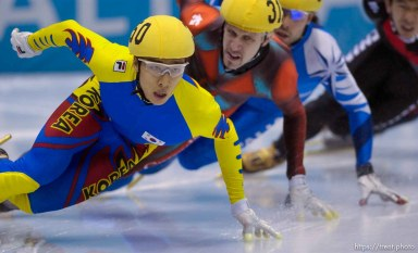 Men's 1500m Final, Wednesday evening at the Salt Lake Ice Center, 2002 Olympic Winter Games. 02.20.2002, 8:45:18 PM