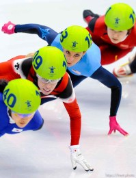 Short Track Speed Skating, at the XXI Olympic Winter Games in Vancouver, Saturday, February 20, 2010.