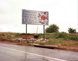 Street scene. Billboard