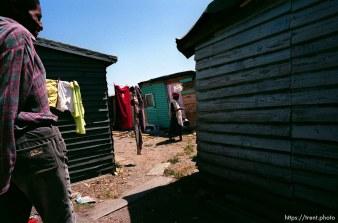 Asher Mvula in his backyard.
