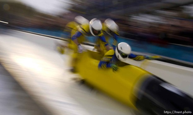 Ukraine. Four-Man Bobsled competition