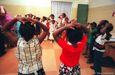 """Song time in LDS primary. """"Head, Shoulders, Knees, and Toes."""""""