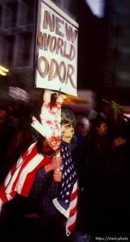 Anti-war Gulf War protests.