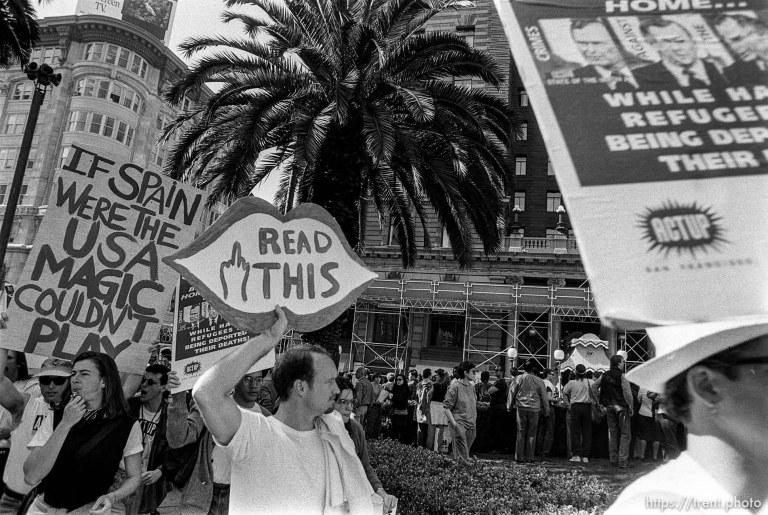 Protesting George Bush Visit
