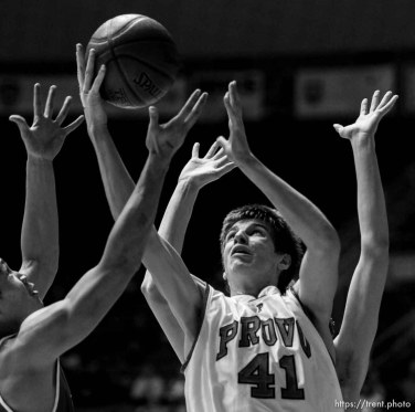 provo's chris collinsworth. Ogden - Provo vs. Granger High School boys basketball, 4A State Basketball Championships at the Dee Events Center Wednesday.