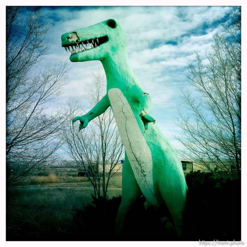 statue near dinosaur national monument