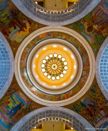 Trent Nelson | The Salt Lake Tribune The dome of the State Capitol Building in Salt Lake City, Friday, February 28, 2014.