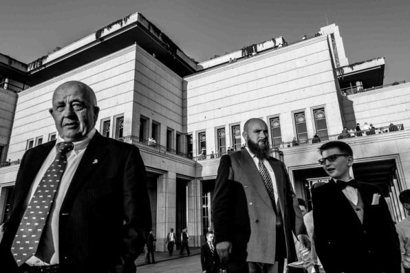 Trent Nelson | The Salt Lake Tribune Men leave the Conference Center following the priesthood session of the 186th Annual General Conference of The Church of Jesus Christ of Latter-day Saints in Salt Lake City, Saturday April 2, 2016.