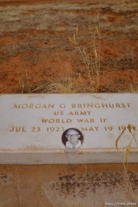 Morgan Bringhurst 1923-1992. Isaac W. Carling Memorial Park, Colorado City, Friday March 16, 2018.