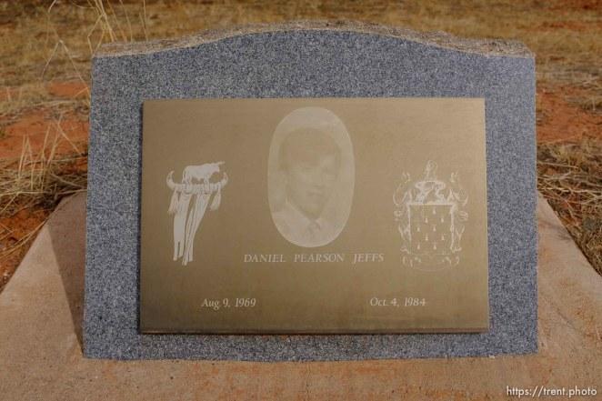 Daniel Pearson Jeffs, 1969-1984. Isaac W. Carling Memorial Park, Colorado City, Friday March 16, 2018.