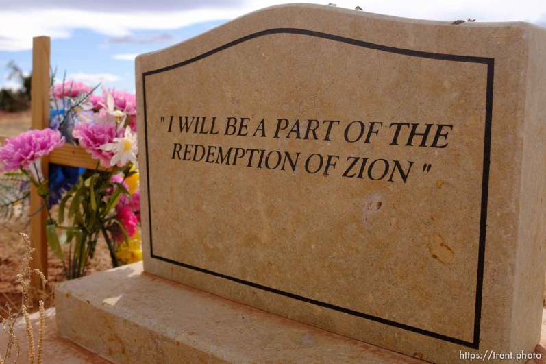 I will be a part of the redemption of Zion. Isaac W. Carling Memorial Park, Colorado City, Friday March 16, 2018.