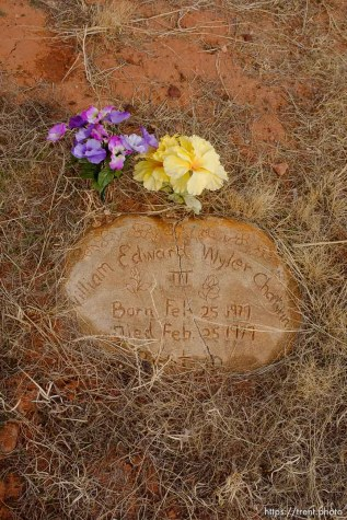William Edward Wyler Chatwin, 1979. Isaac W. Carling Memorial Park, Colorado City, Friday March 16, 2018.