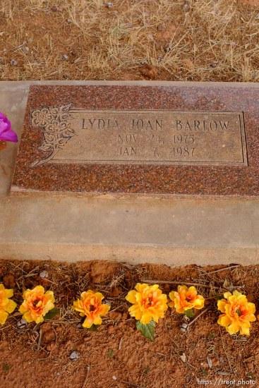 Lydia Joan Barlow, 1975-1987. Isaac W. Carling Memorial Park, Colorado City, Friday March 16, 2018.