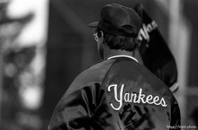Manager at Yankees game.